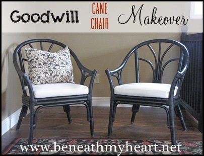 Goodwill chairs makeover Beneath My Heart