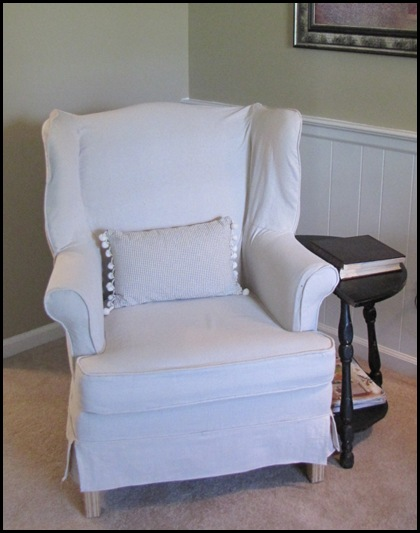 A Drop Cloth Slipcover