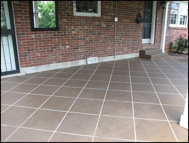 "New ""Tile"" Patio Floor  Reveal!"