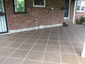 stained concrete tile