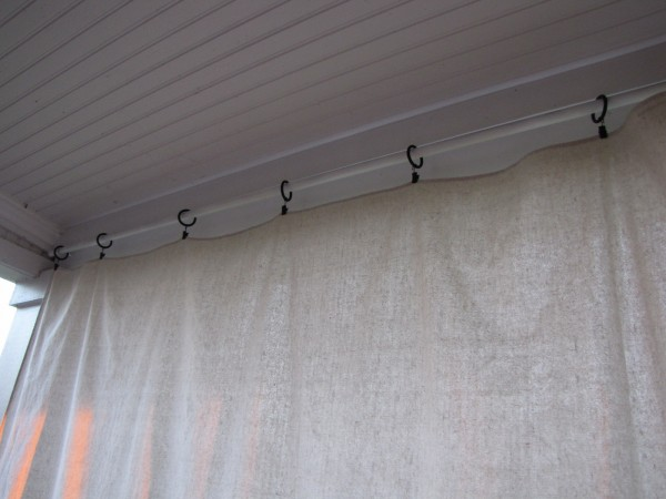 I Have A Total Of 5 These Curtains On My Patio The Drop Cloths Were Less Than 10 Dollars Piece At Home Depot Remember Do Not