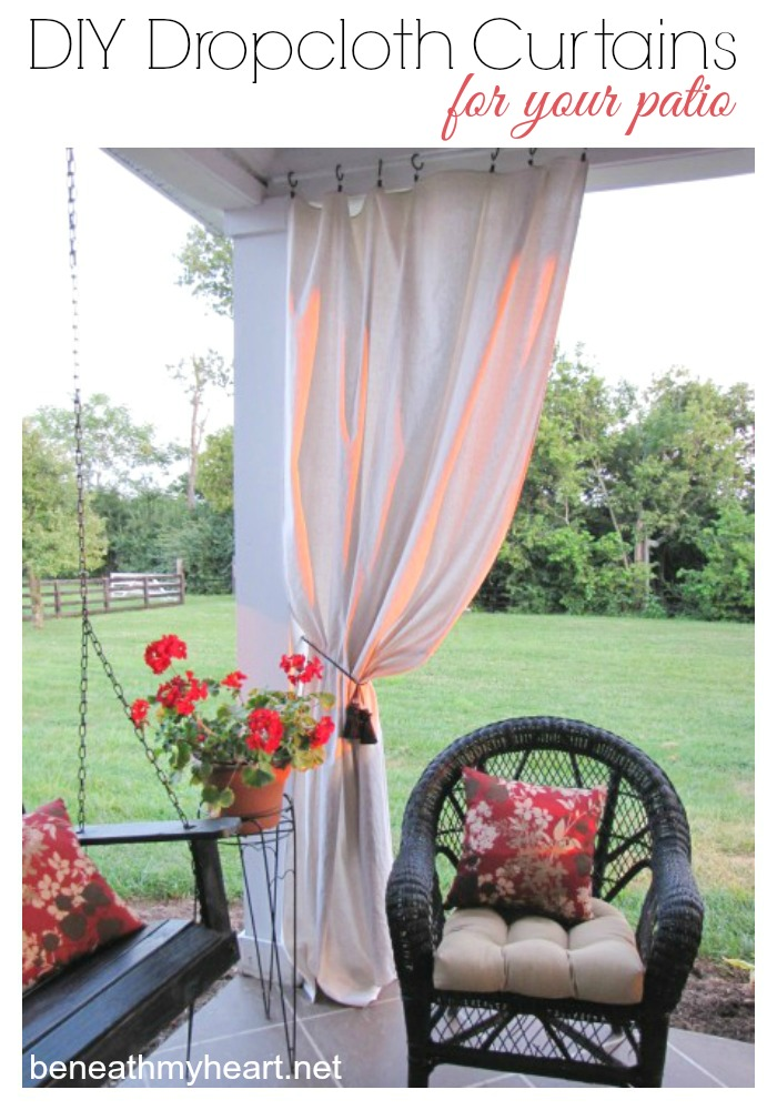 Drop Cloth Curtains For My Patio Beneath My Heart