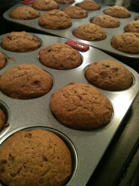 Yummy Pumpkin Chocolate Chip Muffins!