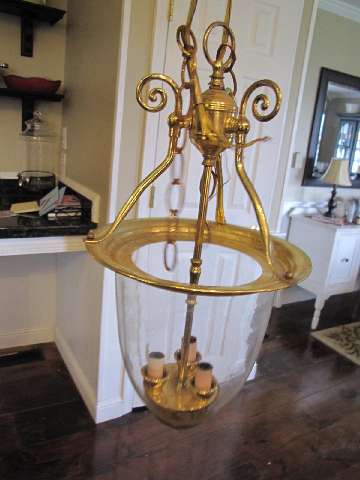 $3.00 Brass Pendant Light turned into Pottery Barn Style!!!