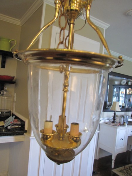 00 Brass Pendant Light turned into Pottery Barn Style!!! - Beneath ...