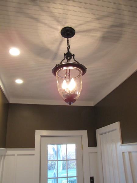 Isn't ... - $3.00 Brass Pendant Light Turned Into Pottery Barn Style
