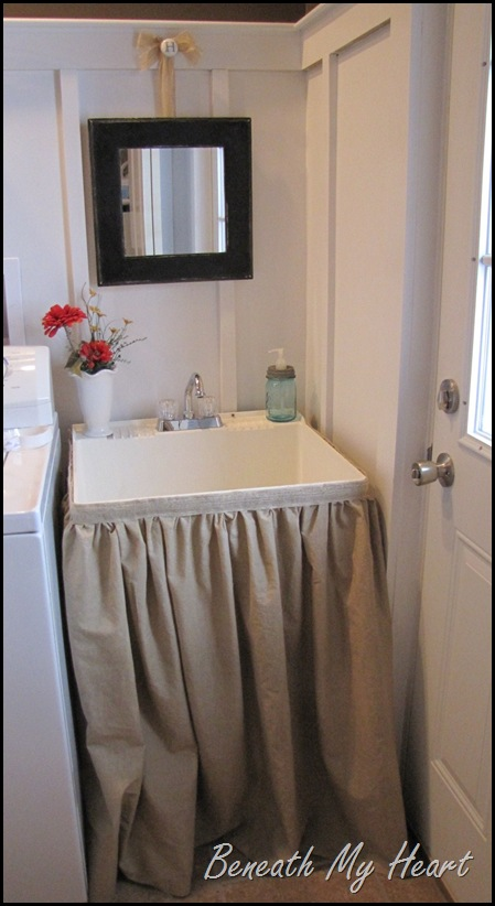 Mirror Makeover For The Mudroom Sink Beneath My Heart