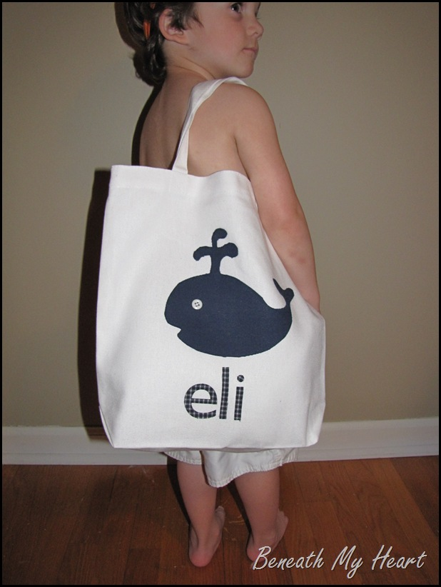 kids beach tote bag