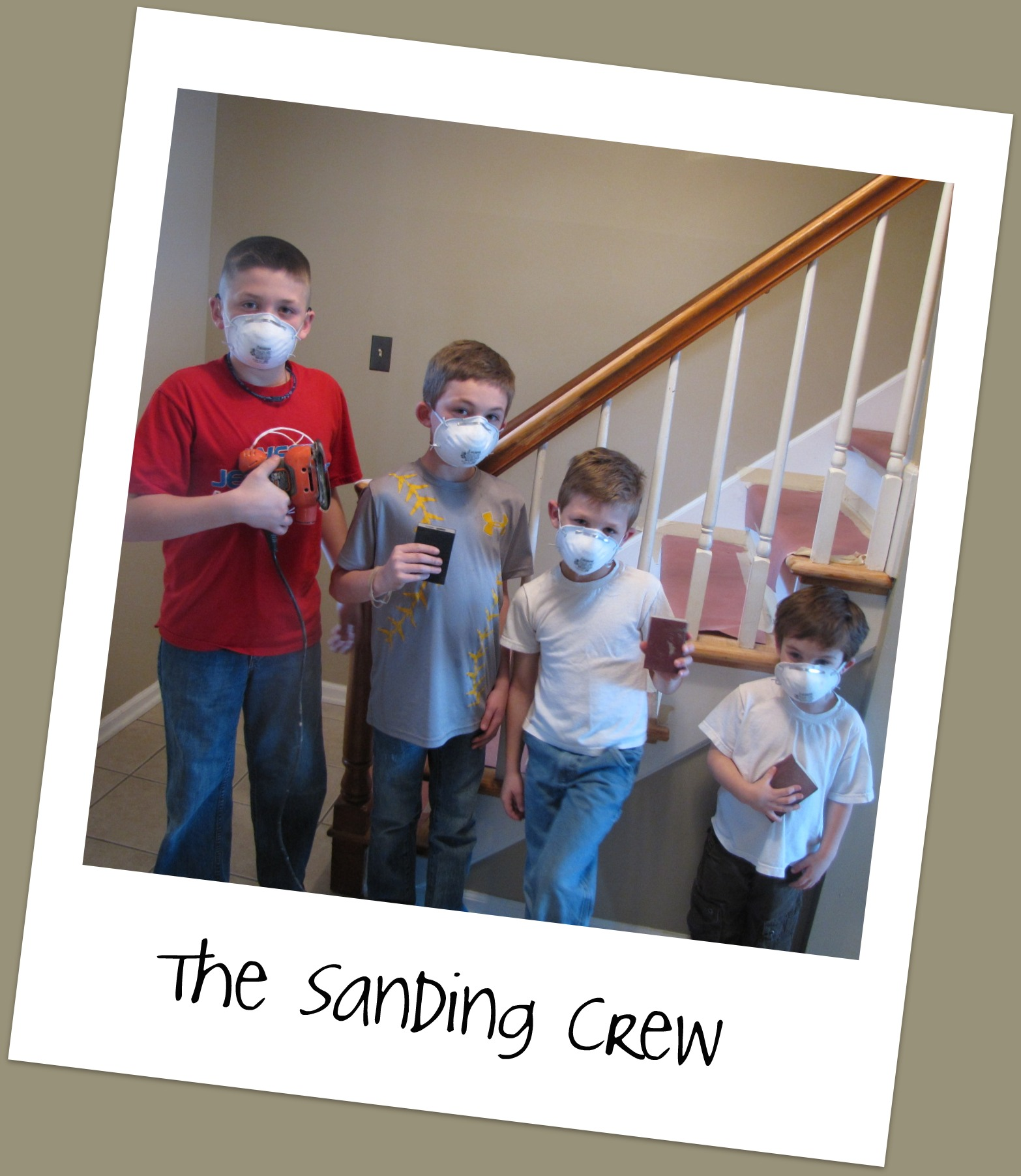 The Sanding Crew {You HAVE to watch this video…guaranteed smiles!}