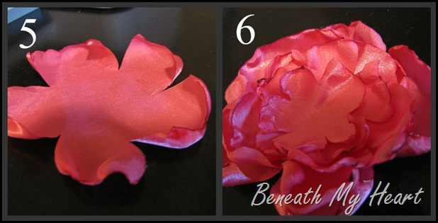 steps to make a fabric flower