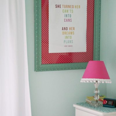 Re-Purposing a Framed Print {by Melissa from 320 Sycamore}