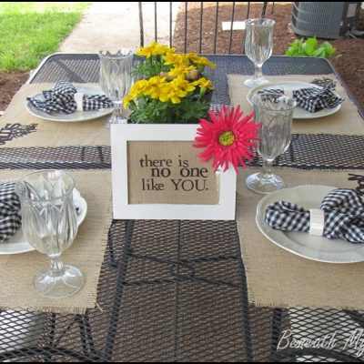 """I Celebrate YOU"" Tablescape {Guest Post by Me!}"
