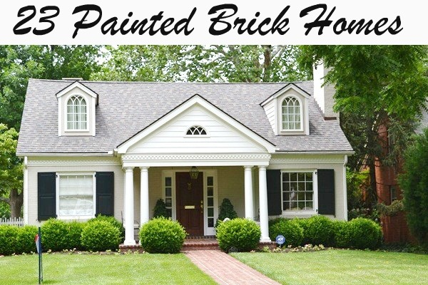 Painting Exterior Brick Home Adorable Painted Brick A Plethora Of Inspirational Pictures  Beneath My . Decorating Inspiration