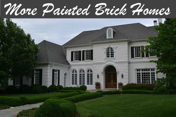 Painting Exterior Brick Home craftsman homes exterior color schemes exterior paint colors for brick homes single wood front door brown brick colors roof color red brick house pictures More Painted Brick Homesand My Favorite Bricks House And Curb Appeal