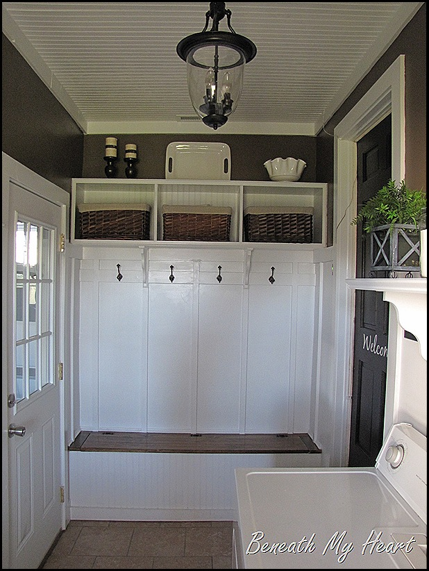 decorating ideas for garage turned family room - A Laundry Mudroom Makeover Re visited Beneath My Heart