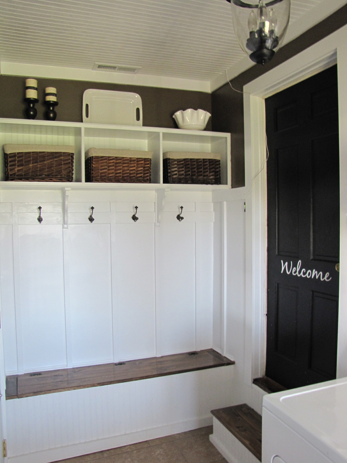 A laundry mudroom makeover re visited beneath my heart for Garage mudroom