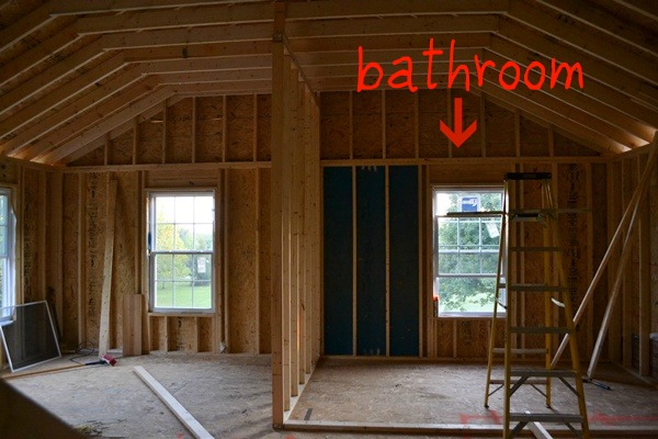 In the picture above, you see the bathroom on the right, and room #2 on the left.