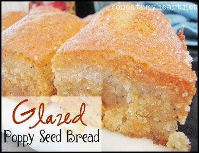Glazed Poppy Seed Bread {A Readers' Favorite}