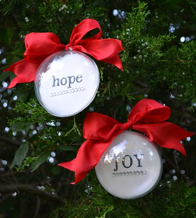 easy and inexpensive handmade ornament beneath my heart