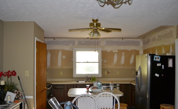 The Pantry is Gone!!! {And the kitchen looks so much bigger!}