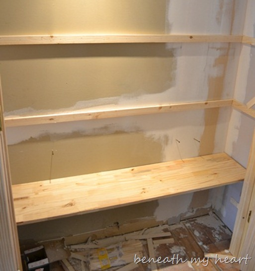 Crown Molding And Pantry Shelves Beneath My Heart