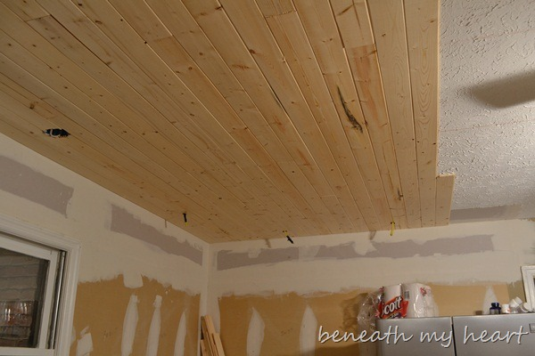 Sneak Peek Of Our Wood Ceiling And A Christmas Guest Post
