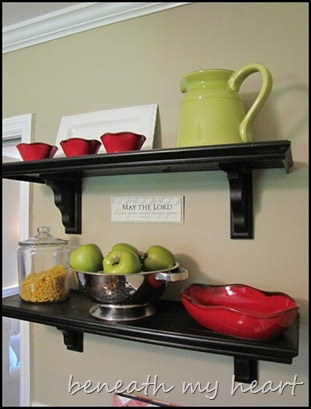 Our New Open Kitchen Shelves!