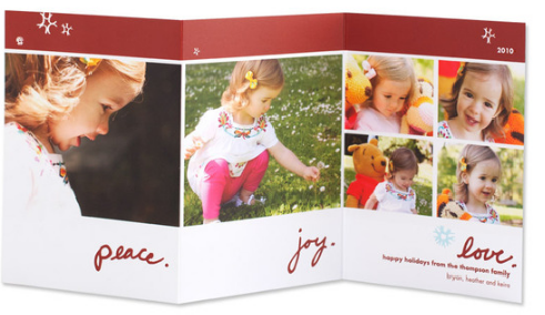 the best thing about ordering these cards online was that i could just quickly upload family photos that i already had on my computer to the tiny prints - Tiny Prints Christmas Cards