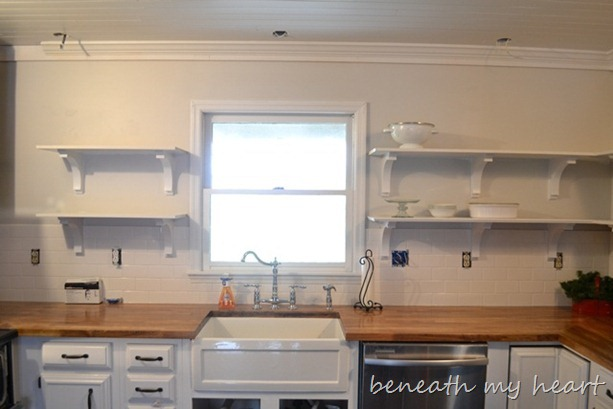 Our New Open Kitchen Shelves Beneath My Heart
