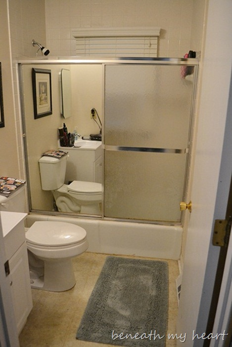 Removing a Sliding Shower Door {My New Year\'s Eve Fun!} - Beneath My ...