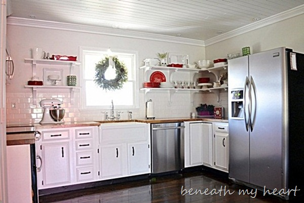 Painting our Kitchen Cabinets (Supplies and Process) - Beneath My Heart