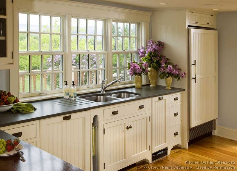 How to add old house character charm to your newer for Country themed kitchen ideas