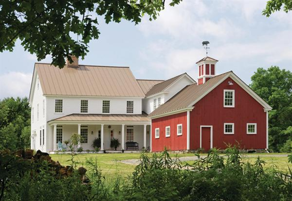 How to add old house character charm to your newer for Traditional farmhouse house plans