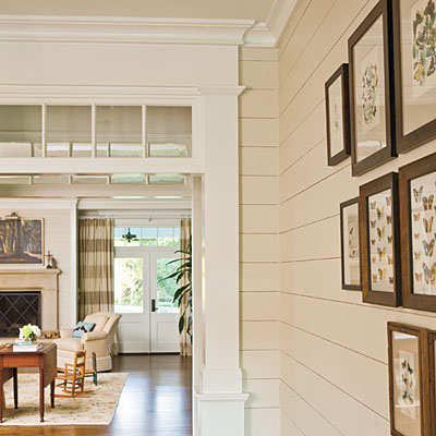 How to add old house character charm to your newer for How to paint wood windows interior