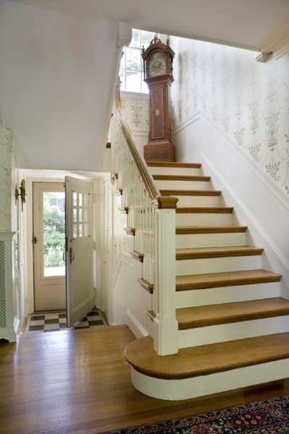 How to add old house character charm to your newer Inside staircase in houses