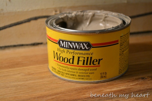 Countertop Filler : ... some of the saw dust with the wood filler before filling the seams