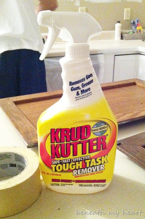 cabinets painting kitchen supplies process krud clean kutter phone cleaned stuff cleaner cabinet paint inside rag worked doors