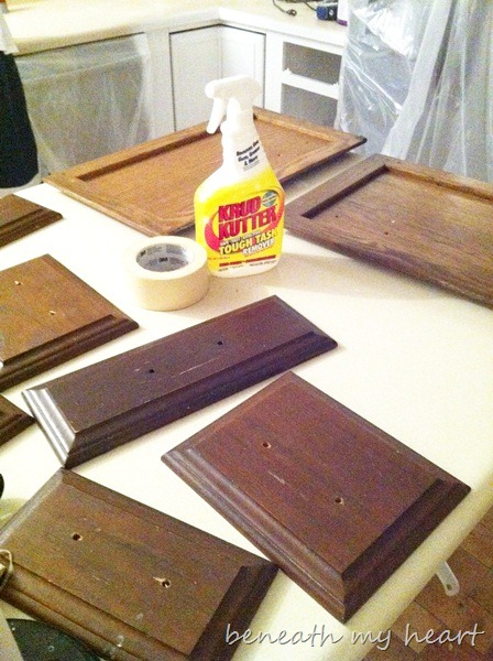 Painting Our Kitchen Cabinets Supplies And Process Beneath My Heart