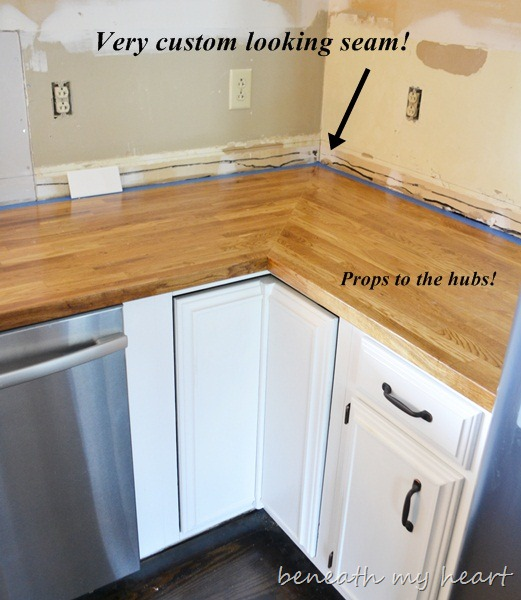 Replacing Kitchen Cabinets On A Budget: IKEA Butcher Block Countertop {Answers To Your Questions