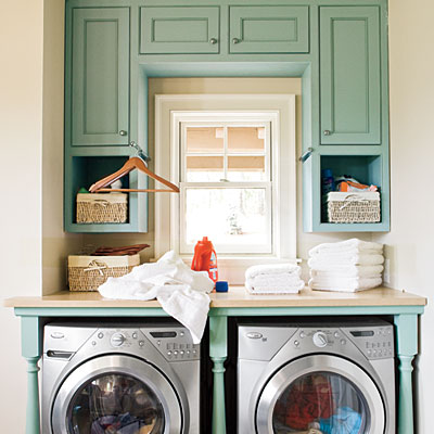 10 beautiful laundry rooms! - beneath my heart Adding Cabinets to Laundry Room