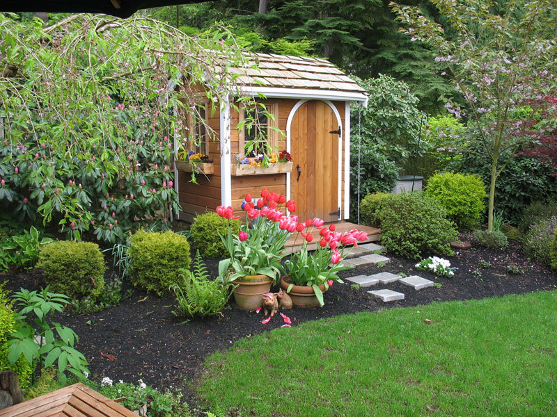 Landscaping Around Sheds
