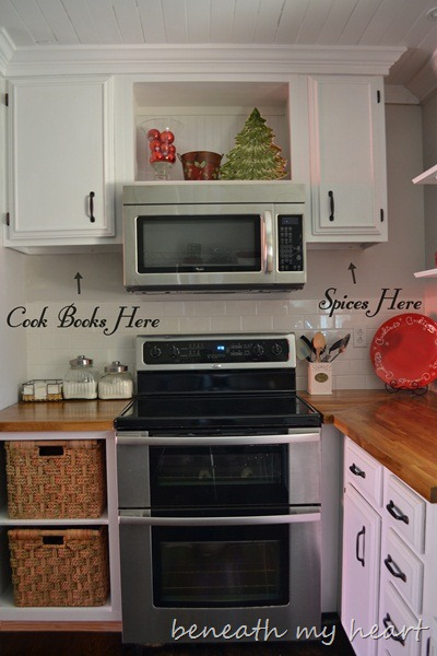 Our DIY Under the Cabinet Cook Book Holder - Beneath My Heart