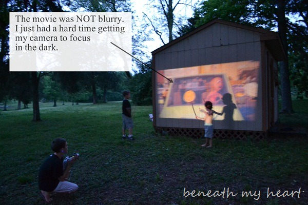 Family Fun With A 3m Mobile Projector And A 150 Target
