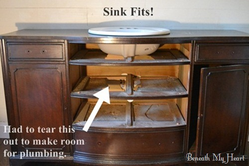 Masterbath Turning A Dresser Into A Vanity Beneath My Heart - How to make a bathroom vanity