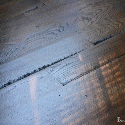 Our Utility Grade Hardwood Oak Floors {Facts and Pictures}