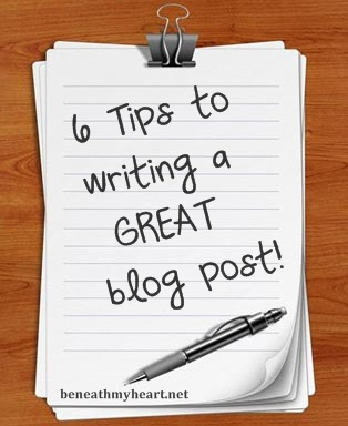 6 Tips to Writing a GREAT Blog Post!