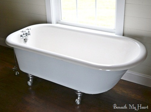How to refinish an antique claw foot tub check out my new for Claw foot soaker tub
