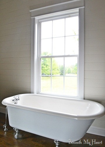 How to Refinish an Antique Claw Foot Tub {Check out my New Tub!}