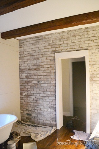 how to white wash brick