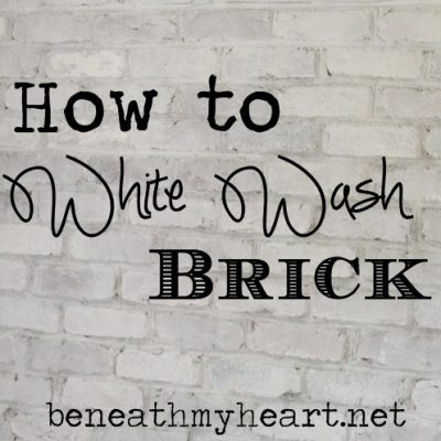 How to White Wash Brick {Bathroom Update}